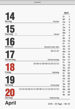 Wochen-Abreißkalender 10,5x15xm Modell 70325 - Brunnen Wandkalender 2020