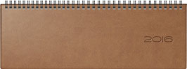 septant 30,5x10,5cm Kunstleder-Einband Braun Modell 36125 - Rido Querterminer 2022