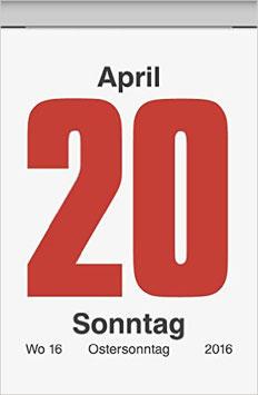 Tages-Abreißkalender 53,6x71mm Modell 70302 - Brunnen Wandkalender 2020