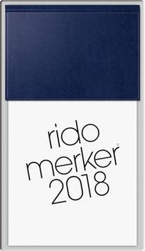 Rido merker Miradur-Einband Blau - Rido Tischkalender 2022