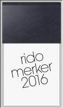 Rido merker Kunststoff-Einband Skivertex Schwarz - Rido Tischkalender 2021