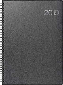 Modell 763 21x29cm Bucheinbandstoff Metallico Vulkanschwarz - Brunnen Buchkalender 2021