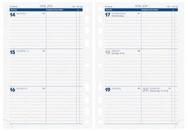 Wochenkalender 14,8x21cm Timer Business - Brunnen Kalender-Einlage 2021