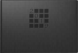 Septimus 15,2x10,2cm Papier-Einband Linea Schwarz - Rido Taschenkalender 2021