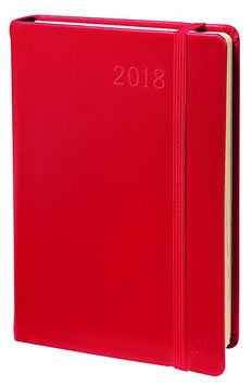 Daily Pocket 8,8x13cm Habana Rot - Quo Vadis Kalender 2022