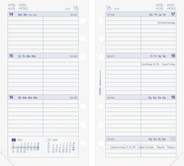 Wochenkalender 9,3x17,2cm Timer Filius - Brunnen Kalender-Einlage 2022