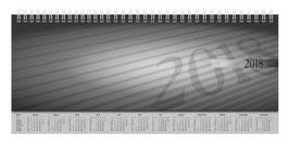 septant 30,5x10,5cm PP-Einband Schwarz Modell 36102 - Rido Querterminbuch 2020