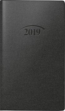 Modell 753 8,7x15,3cm Kunststoff-Einband Schwarz - Brunnen Taschenkalender 2020