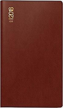 Gilet-Planer 7x11,8cm Kunststoff-Einband Bordeaux Modell 45002 - Rido Taschenkalender 2021