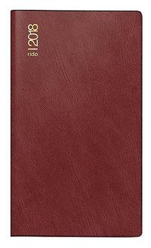 Miniplaner D15 8,7x15,3cm Schaumfolien-Einband Catana Bordeaux Modell 45432 - Rido Taschenkalender 2021