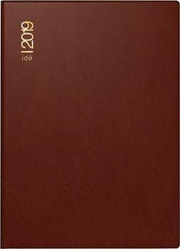 Industrie II 7,2x11,2cm Kunststoff-Einband Bordeaux Modell 16212 - Rido Taschenkalender 2021