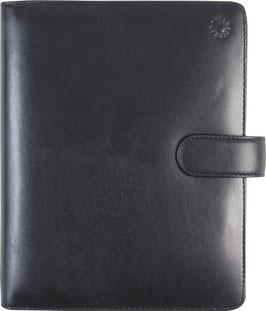 Timing 1 Leder-Ringbuch Schwarz A5 14,8x21cm - Rido Zeitplansystem Timing 1