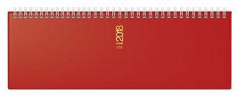 ac 30,7x10,5cm Hartfolien-Einband Rot Modell 31302 - Rido Querterminbuch 2021