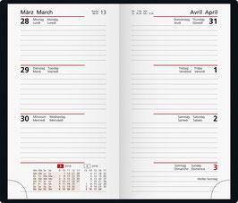 Taschenplaner int. 8,7x15,3cm Kalender-Einlage - Rido Taschenkalender 2020