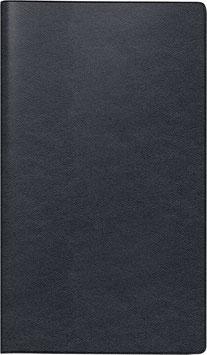 Modell 755 8,7x15,3cm Leder-Einband Schwarz - Brunnen Taschenkalender 2021