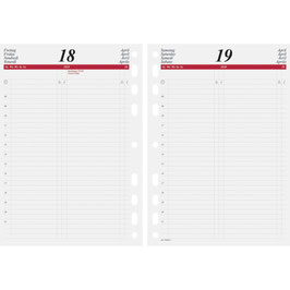 Timing 1 Kalendarium 1 Tag auf 1 Seite A5 14,8x21cm - Rido Kalender-Einlage 2022