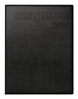 Magnum 18,3x24cm Kunstleder-Einband Prestige Schwarz Modell 27064 - Rido Buchkalender 2021