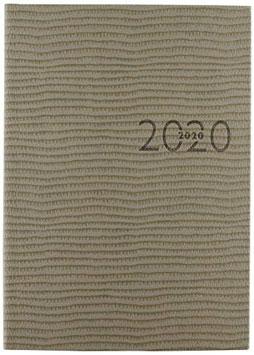 Studioplan int. 16,8x24cm Kunstleder-Einband Tejo Grau Modell 23016 - Rido Buchkalender 2021