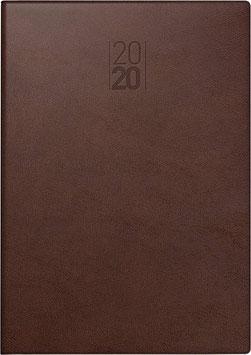 Manager Modell 761 21x26cm Kunstleder-Einband Braun - Brunnen Buchkalender 2022