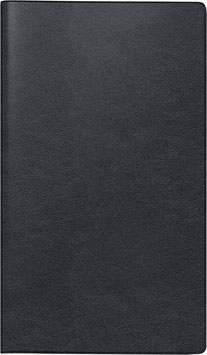 Modell 756 8,7x15,3cm Leder-Einband Schwarz - Brunnen Taschenkalender 2021