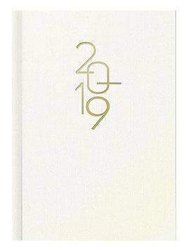 Mentor 14,5x20,6cm Kunststoff-Einband Weiß Modell 26033 - Rido Buchkalender 2021