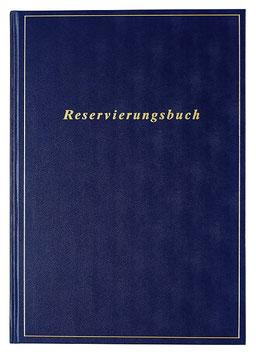 Reservierungsbuch 21x29,7cm Balacron-Einband Blau Modell 27413 - Rido Buchkalender 2021