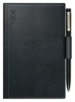 Technik I 10x14cm Kunstleder-Einband Skivertex Schwarz mit Kugelschreiber Modell 18103 - Rido Taschenkalender 2022