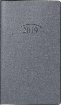 Modell 751 8,7x15,3cm Kunststoff-Einband Artistico Silber - Brunnen Taschenkalender 2020
