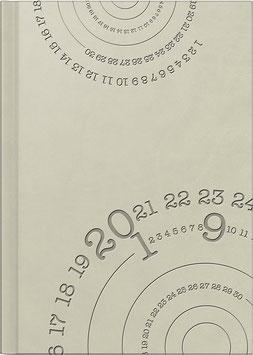 Cheftplaner 14,5x20,6cm Kunstleder-Einband Compass Grau Modell 21815 - Rido Buchkalender 2021