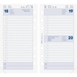 Tageskalender 9,3x17,2cm Timer Filius - Brunnen Kalender-Einlage 2020