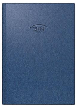 Modell 765 14,3x20,2cm Bucheinbandstoff Metallico Cosmosblau - Brunnen Buchkalender 2021