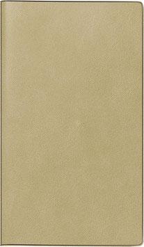 Taschenplaner int. 8,7x15,3cm Kunstleder-Einband Hellbraun Modell 16925 - Rido Taschenkalender 2021