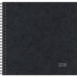 Quadratkalender Modell 766 21x20,5cm Karton-Einband Schwarz - Brunnen Buchkalender 2022