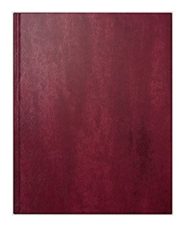 Managerkalender TM 20,5x26cm Kunstleder-Einband Rotbraun Schwarz Modell 24074 - Rido Buchkalender 2020