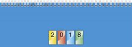 Modell 29,7x10cm Dataline Karton-Einband vierfarbig - Brunnen Querterminkalender 2020