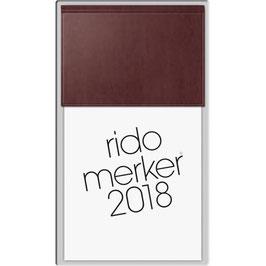 Rido merker Miradur-Einband Rot - Rido Tischkalender 2020