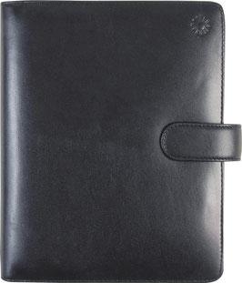 Timing 2 Leder-Ringbuch Schwarz 9,3x17,2cm - Rido Zeitplansystem Timing 2