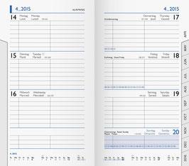 Modell 756 8,8x15,3cm Kalender-Einlage - Brunnen Taschenkalender 2021