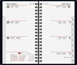 Taschenplaner int. 8,7x15,3cm Kalender-Einlage - Rido Taschenkalender 2021