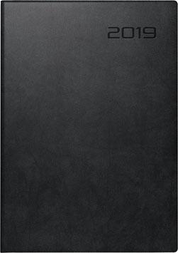 Modell 797 16,8x24cm Kunstleder-Einband Schwarz - Brunnen Buchkalender 2021