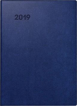 Modell 797 16,8x24cm Kunstleder-Einband Blau - Brunnen Buchkalender 2021