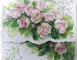 Carol Greeting Card NCP2429 「薔薇のブーケ」 BOX入