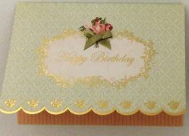 LEAFGC 50-227 「Happy Birthday リボン オレンジ」