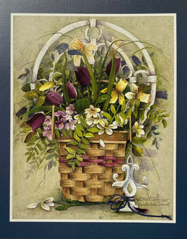 パット・リヒター 14387 手持ち飾りのある花籠 10