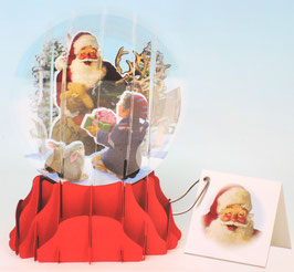 Snow Globe SGS-038L「Santa and Helper」