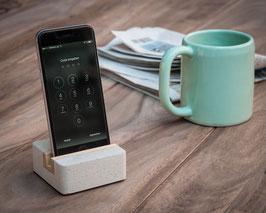 WOOD U? STYLE MINI - Halterung für iPhone und Smartphone aus Beton