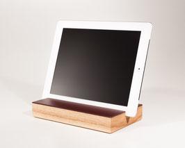 WOOD U? ENJOY - Halterung für iPad und tablet aus Eiche mit Linoleum