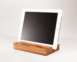 WOOD U? PURE - Halterung für iPad und tablet aus Zebrano