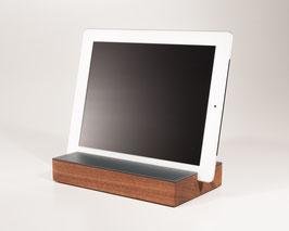 WOOD U? ENJOY - Halterung für iPad und tablet aus  Nussbaum mit Linoleum