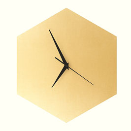 WOOD U? WATCH - Wanduhr in Betonoptik mit Gold